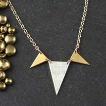 3 Mixed Triangle Necklace