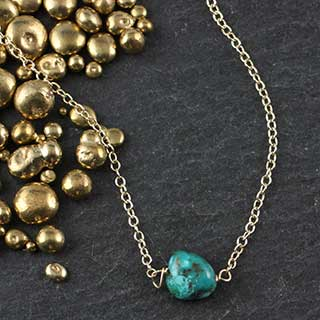 Turquoise Nugget Necklace (n-tqn0)