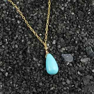 Turquoise Tear Necklace (n-tqt0)