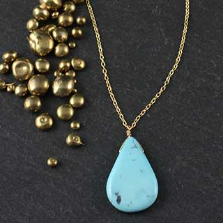Large Smooth Teardrop Necklace (n-tqtl)