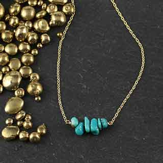 Chip Turquoise Necklace (n-tqz6)