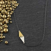 Side Triangle Accent Necklace