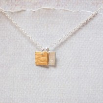 Two Tiny Squares Necklace