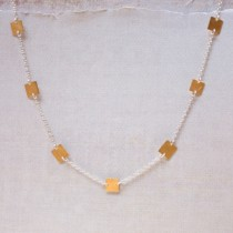 Seven Tiny Square Necklace