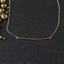 Thin Hammered Wire Necklace