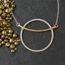 Flat Ring and Bar Necklace