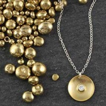 Md Embedded CZ Disc Necklace
