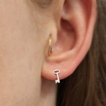 Itty Bitty Key Post Earring