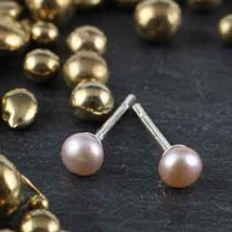 Simple Post Earring: Small Pearl