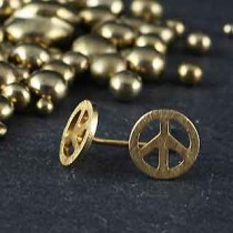 Small Peace Post Earring