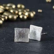 Tiny Closed Square Post Earring