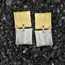 Two Tiny Square Post Earrings