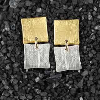 Two Tiny Square Post Earrings (p-tsq2)
