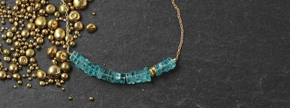 Square Apatite Bar Necklace