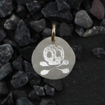 Organic Engraved Disc Charm: Small/icon