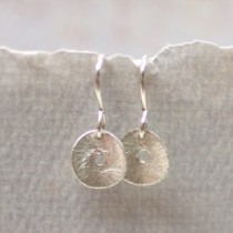 Baby Disc Earring: No Stone