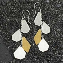 4 Crazy Cut Earrings: All Metal