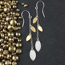 3 Closed Marq Drop Earring