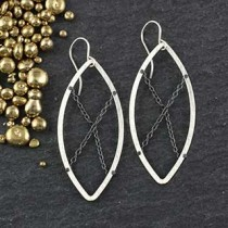 Chain Ring Marquise Earring