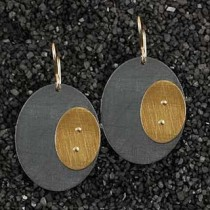 Riveted Double Oval Earring