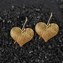 Flat Medium Heart Earring