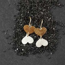 Mirrored Hearts Earring