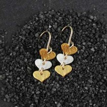 Three Tiny Flat Heart Earring