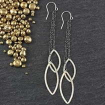 Flat Marquise Chain Double Earring