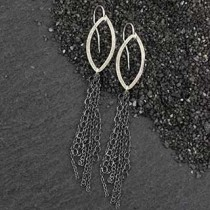 #2 Marquise Earring With 9 Chains