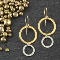 Lg Circle Over Small Circle Earring