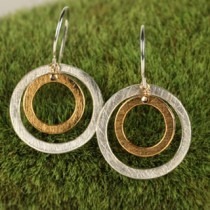 Heavy Double Round Earring