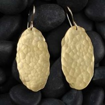 Hammered Medium Oval Earring