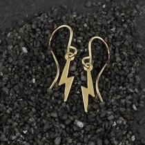 Itty Bitty Lightening Bolt Earrings
