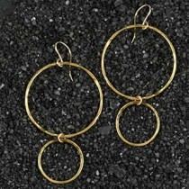 Big Little Hammered Ring Earrings