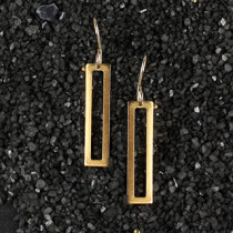 Open Rectangle Earring
