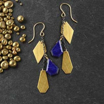 Chained Mixed Crazy Cut Earrings