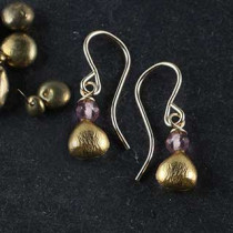 Micropear with Rondelle topper Earring