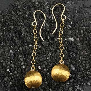 8mm Round Drop Earring (e-mr81)