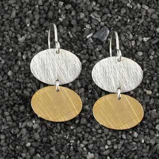 Double Small Oval Earring (e-ovs2)