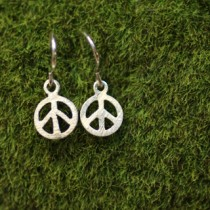 Small Peace Earring