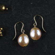 Large Pearl Nugget Earring