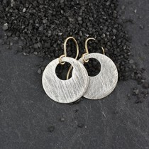 Small Punched Disc Earring