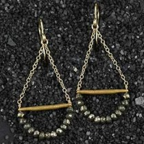 Pyrite Swing Earring