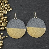 Riveted Sliced Disc Earring: Large