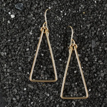 Wire Triangle Earring