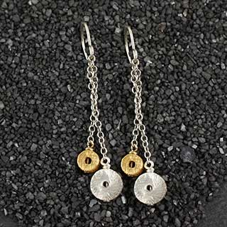"Double Drop ""O"" Earring (e-sp02)"