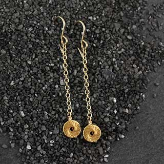 "Tiny ""O"" Drop Earring (e-sps1)"