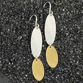 Big over Little Oval Earring (e-sv12)