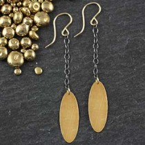 Skinny Oval Chain Earring #2
