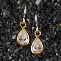 Solitaire Earring: Teardrop